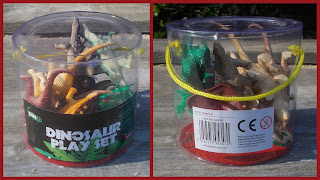 Dinosaur Models; Dinosaur Novelties; Dinosaurs; Hollow Cast Vinyl; ITP Imports; Poundworld Plus; Prehistoric Animals; PVC Rubber; PVC Toy; PVC Vinyl Animals; PVC Vinyl Rubber; Rubber Dinosaurs; Small Scale World; smallscaleworld.blogspot.com; Toy Tub; Tub Toy; vinyl Dinosaurs; Vinyl Plastic Toys; 1 RTM - Dinosaur Play Set Toob Tube Tub Bucket Complete with handle