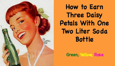 How to Earn Three Daisy Petals With One Two Liter Bottle