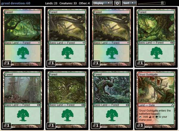 Magic The Gathering Adventures Standard Rtr Theros Set Gruul Deck
