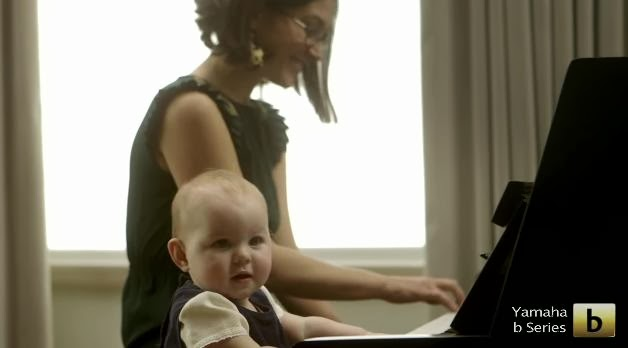 "Adorable Baby is the Star of Yamaha's B-Series Piano Advert ""Key Shuffle"""