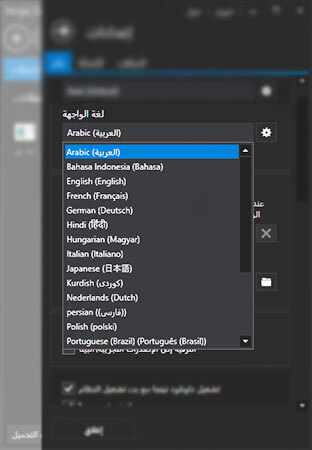 تغيير اللغة في برنامج نينجا داوند مانجر الى اللغة العربية