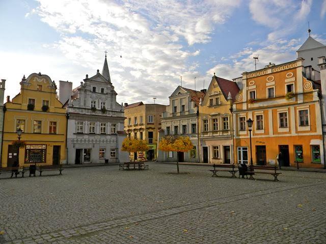 rynek, Bytom Odrzański, polskie miasteczka