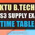 B.Tech S1-S3 Supplementary Examinations Detailed TimeTable July 2017 Published