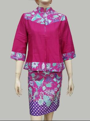 Model Baju Kemeja Wanita Motif Bunga Kombinasi Polos Terbaru