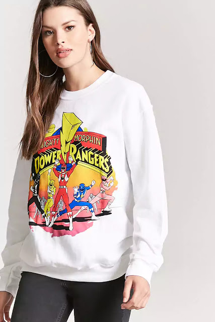 Power Rangers T shirts outfits Forever 21 fashion blogger