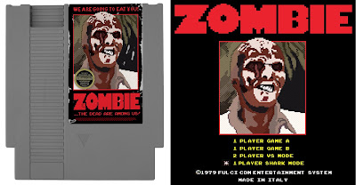 Zombi 2: cartuccia NES e schermata d'apertura