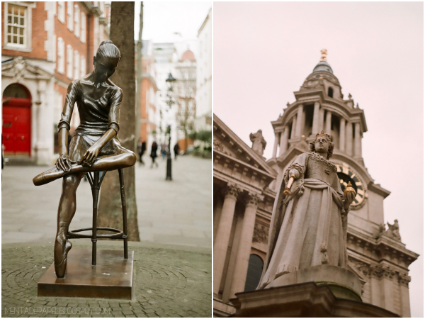 Escultura de una bailarina en Londres