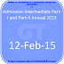 Admission Intermediate Part-I and Part-II Annual 2015