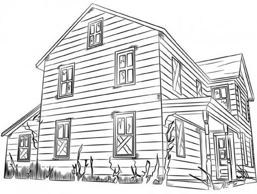 Desenho De Casas Simples Para Colorir: DESENHOS DE CASAS PARA IMPRIMIR E COLORIR
