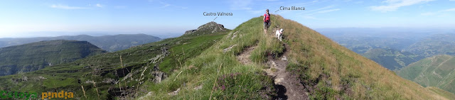 Tercera cota de Castro Valnera; la cima Blanca