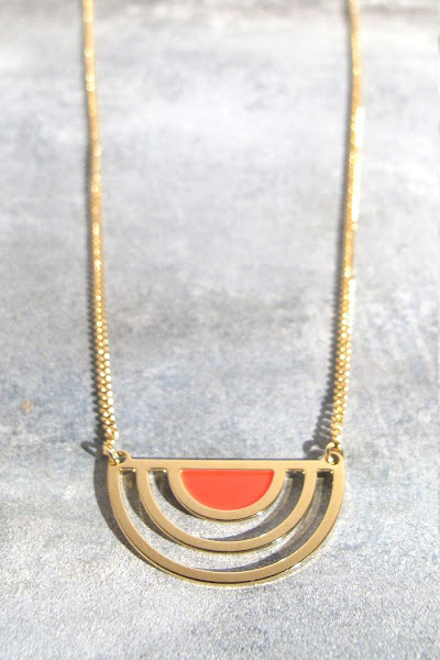 Collier Sunset laqué rouge Anne Thomas