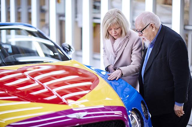 Sir Peter Blake Pop Art Bentley set to raise thousands for Charity