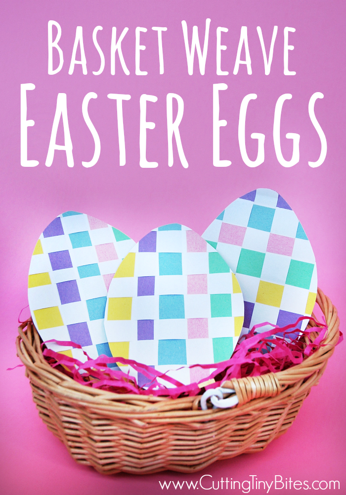 Basket Weave Easter Eggs.  Fine motor Easter paper craft for kids.  EASY!  Great for preschoolers.