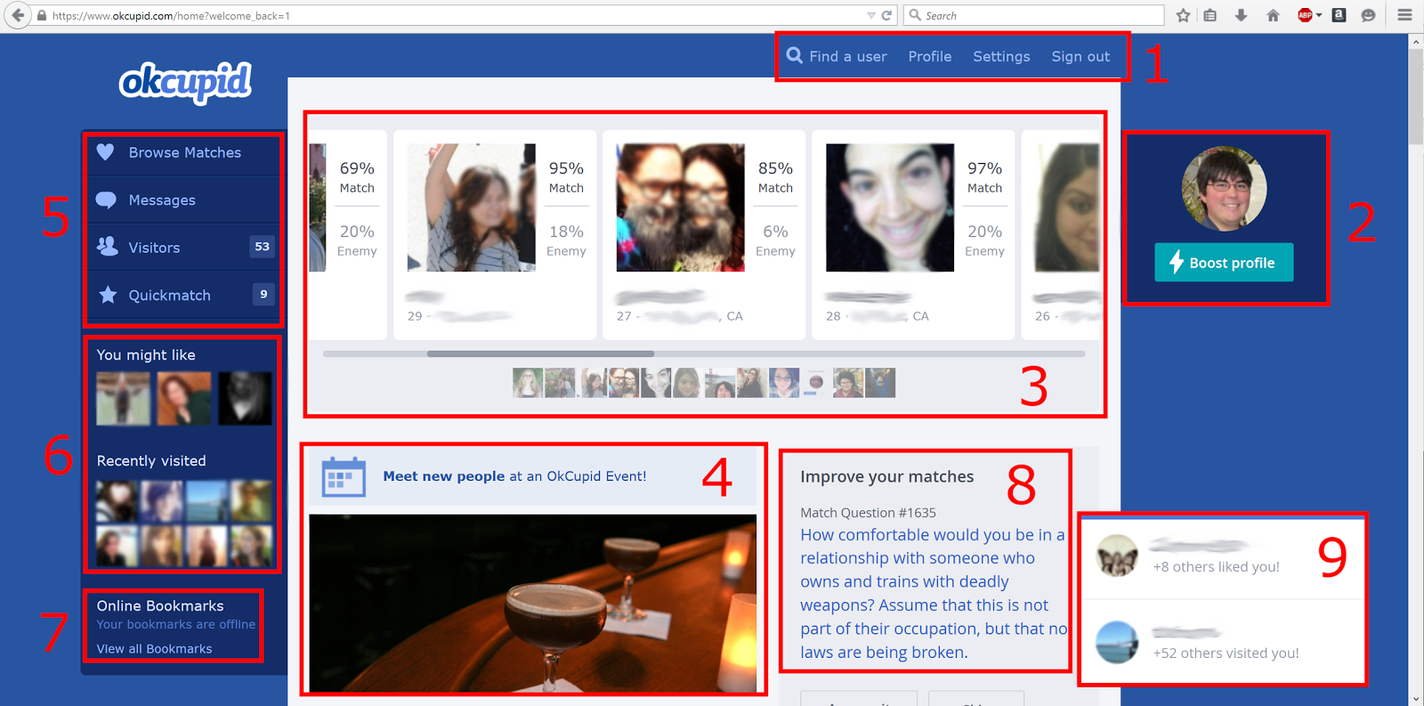 What does experienced mean on okcupid