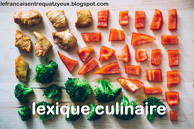 lexique francais french vocabulary cuisine cooking