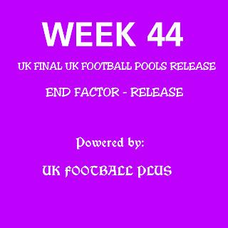 Week 44 UK football pools draws coupon powered by ukfootballplus