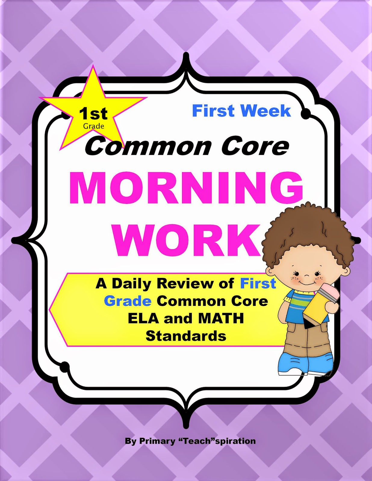 Grab this Free Morning Work and read about an easy and effective way to make sure your first graders are learning the Common Core skills. #firstgradecommoncore, #firstgrademorningroutine, #freemorningwork