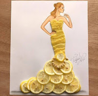 Arte con collage de comida - limon