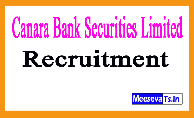 Canara Bank Securities Limited CBSL Recruitment