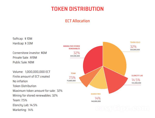 Eloncity Token Distribution