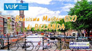 Beasiswa Master (S2) di Vrije Universiteit Amsterdam Belanda