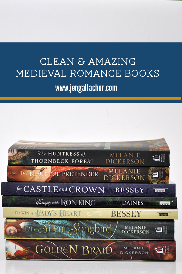 A clean and amazing medieval romance book list from www.jengallacher.com. #booklist #medievalromance #cleanread