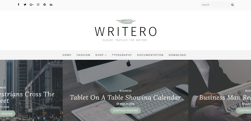 Writero Free Blogger Template