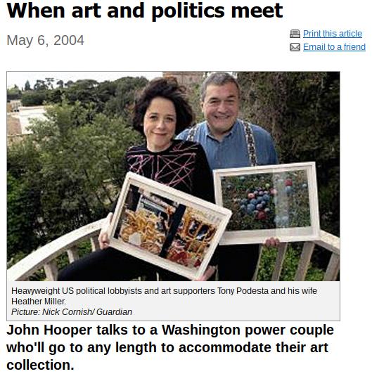 Tony Podesta Art >> The Pizzagate Blog I Am Patricia Piccinini Tony