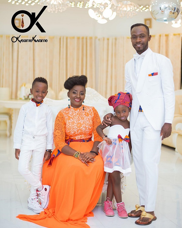 Okyeame Kwame and his family launch new hair products