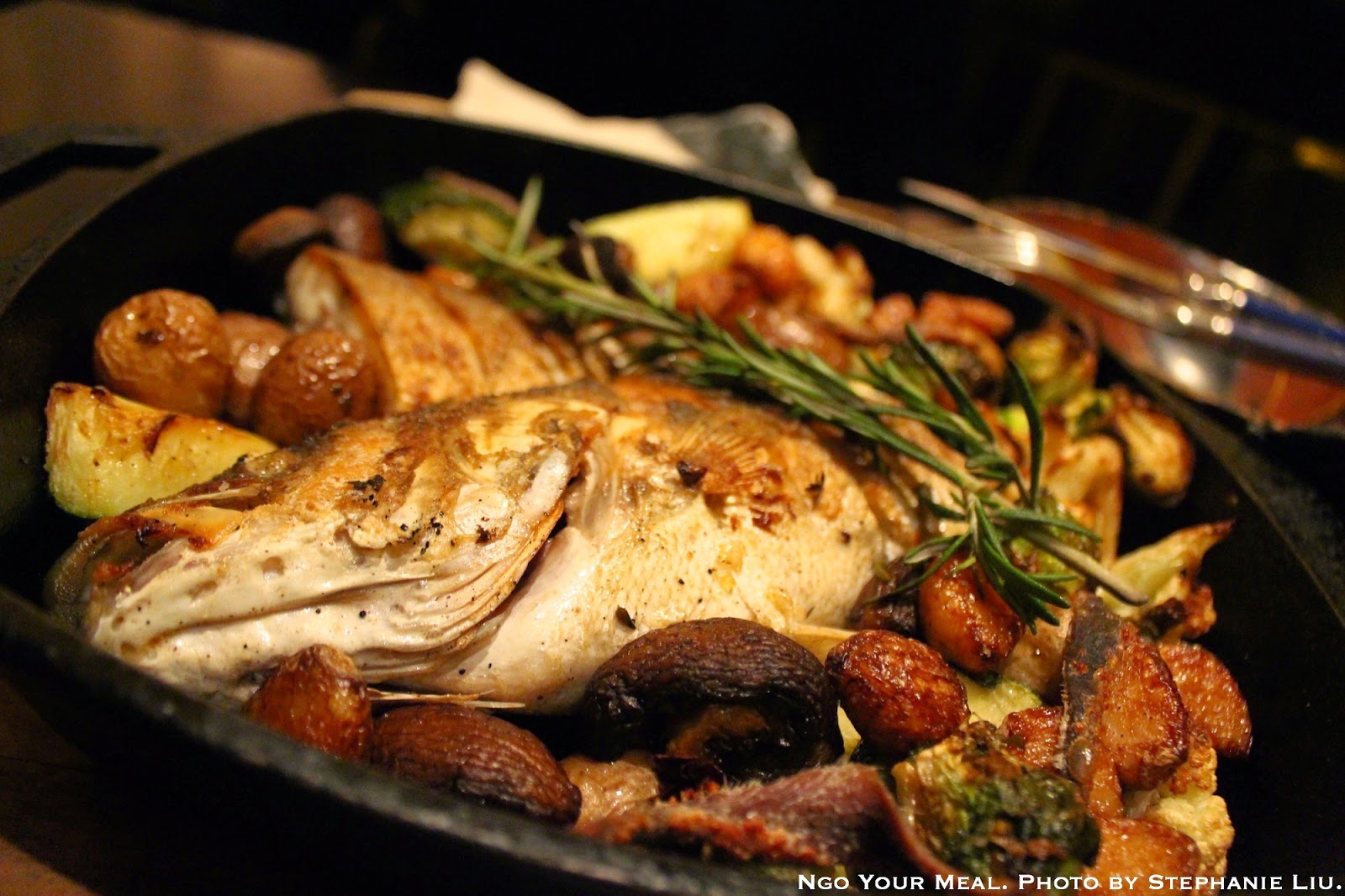 Pan-Roasted Branzino at Bohemian Restaurant