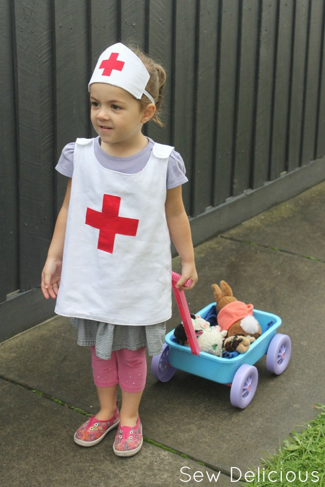 I bet some of you are thinking u201cI donu0027t remember Pepper but I do remember the Nurse Nancy books!u201d. You are in for a treat u2013 Suz from Sewpony has also made ...  sc 1 st  Sew Delicious & Anna Plays Nurse: Kids Nurse Costume - Sew Delicious