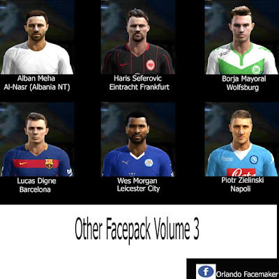 PES 2013 Other Face Pack Volume 3 by Orlando Face Maker