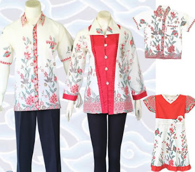 model baju batik keluarga muslim