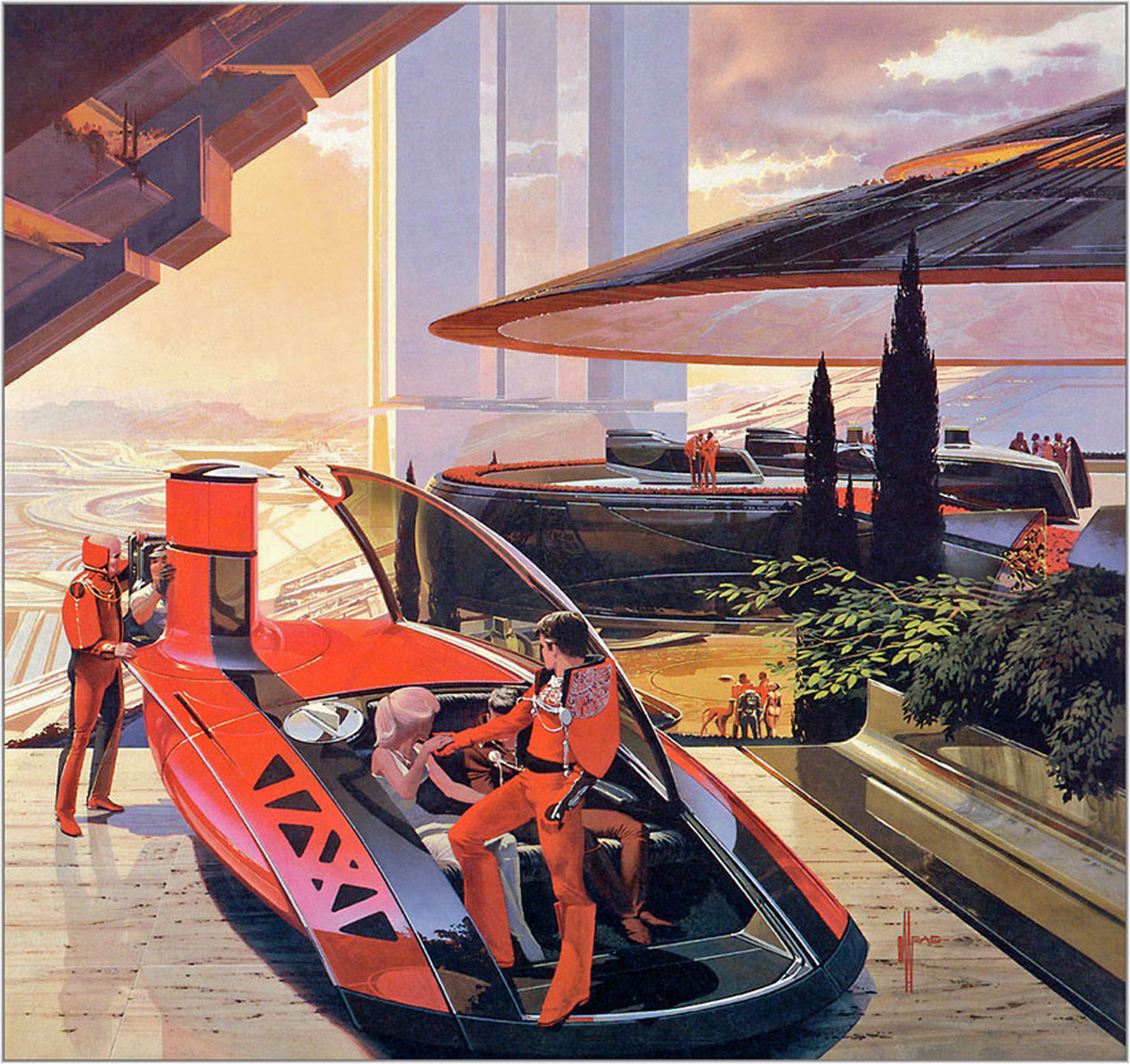 Vintage Science Fiction Wallpaper Google Search: The Blur: The Retro Future: The Art Of Syd Mead