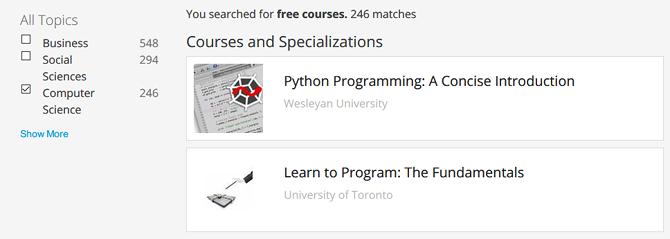 منصة coursera للدورات التدريبية