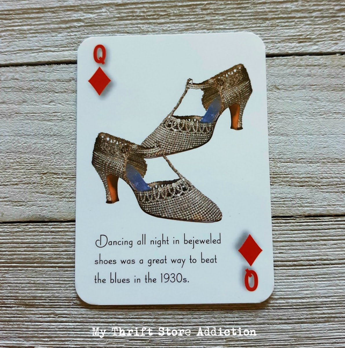 vintage shoe playing cards