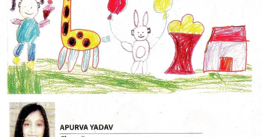 Drawing of Apurva in Kids Zone of the Times of India