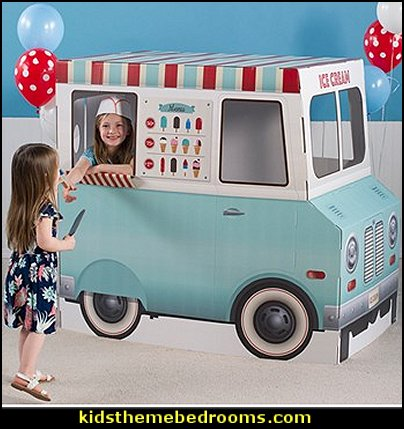 Ice Cream Parlor 3D Truck  party decorations  cupcakes bedroom ideas - cupcakes theme candy decorating candyland sweets - cupcake bedding - cupcake decor - candy decor -  Ice Cream decor - cupcakes and candy bedroom ideas - candy theme bedroom - cupcakes and candy decor - Candy party props - Candy party decorations - candyland gingerbread decorations