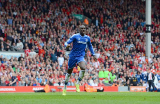 Chelsea Senegalese striker Demba Ba injury