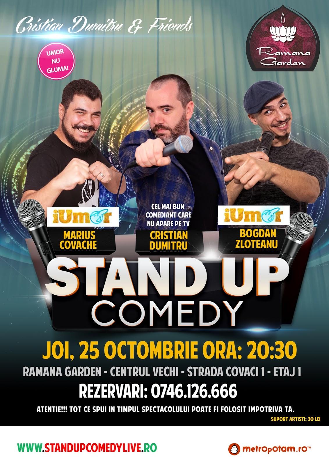 Stand-Up Comedy Joi Bucuresti Centrul Vechi