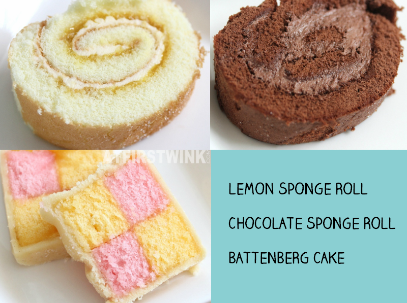 Marks and Spencer lemon chocolate sponge battenberg cake rolls in slices