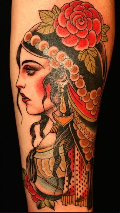 Stunning Gypsy Tattoos For Women