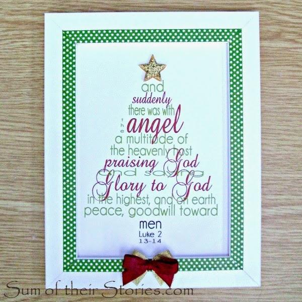 Framed Christmas Tree Print