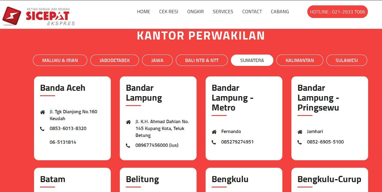 Cek Alamat Perwakilan Sicepat Ekspress di Medan - Cara Cek ...
