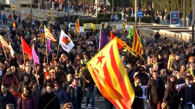 Protestas ante presencia del rey Felipe VI en Barcelona
