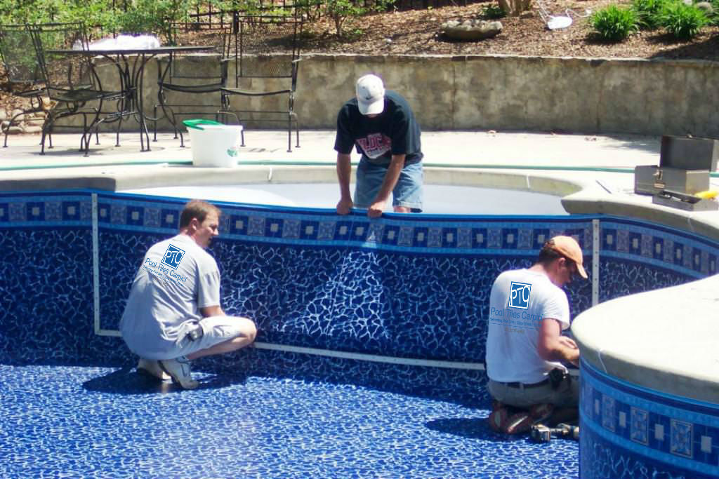 Pool Info Tile Repair