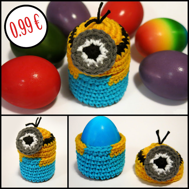 MInion Egg Warmer, Crochet Pattern by Pingo - The Pink Penguin