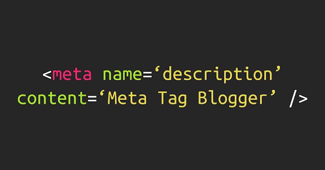 Update Meta Tag pada Blogger