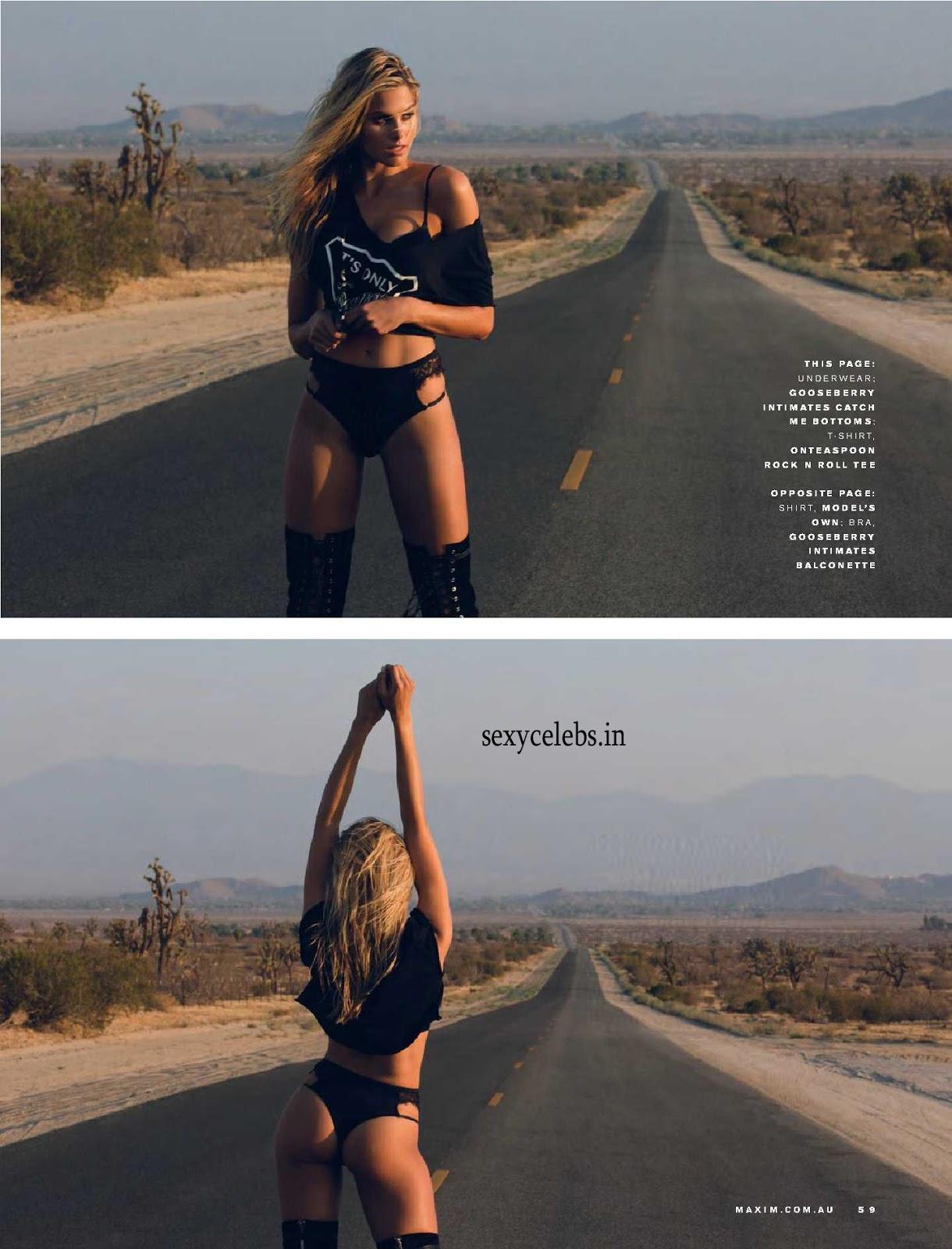 Natalie Roser Walks Nude in Desert for FHM Magazine Oct 2016 Scorching Hot Topless blond Natalie Roser in Bikini WOW