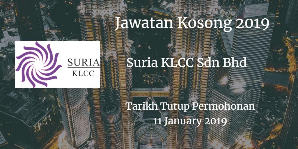 Jawatan Kosong Suria KLCC Sdn Bhd 11 January  2019
